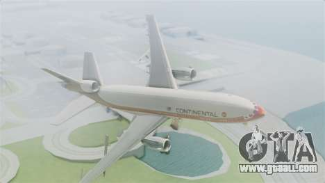 DC-10-30 Continental Airlines 1985 for GTA San Andreas