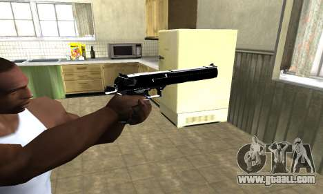 Black Cool Deagle for GTA San Andreas