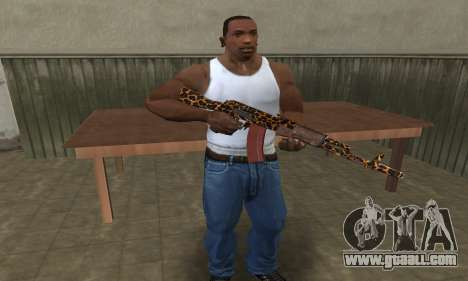 Leopard AK-47 for GTA San Andreas third screenshot