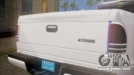 Dodge Dakota Iraqi Police for GTA San Andreas back view