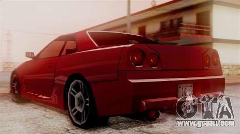 Nissan Skyline R34 SA Style for GTA San Andreas left view
