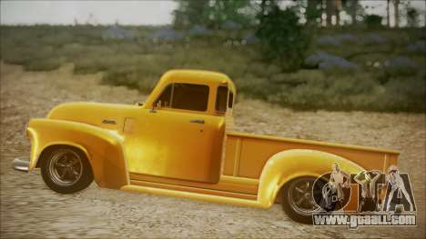 Chevrolet 3100 Truck 1951 for GTA San Andreas back left view
