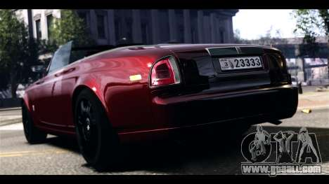 Rolls-Royce Phantom 2009 Coupe v1.0 for GTA 4 back left view