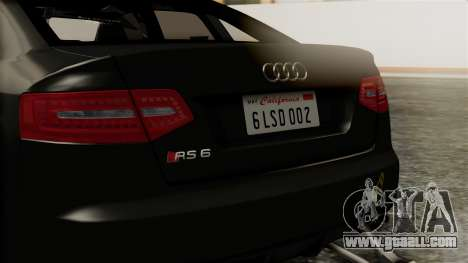 Audi RS6 Civil Drag Version for GTA San Andreas inner view