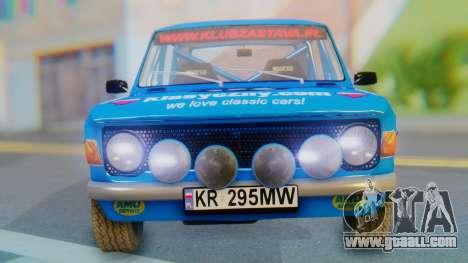 Zastava 1100P Rally for GTA San Andreas back view