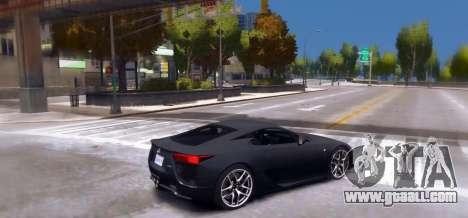 Lexus LF-A 2010 [EPM] for GTA 4 left view