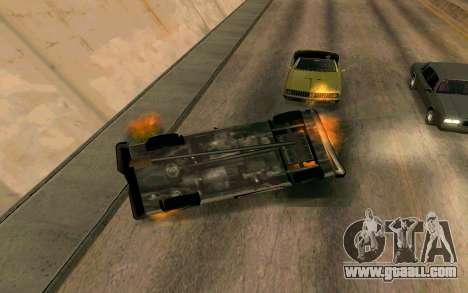 Burning car mod from GTA 4 for GTA San Andreas forth screenshot