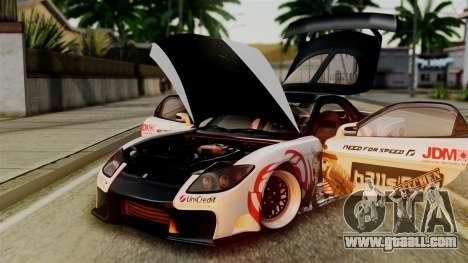 Mazda RX-7 Veilside Mugi Itasha for GTA San Andreas inner view
