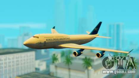 Boeing 747 Argentina Airlines for GTA San Andreas
