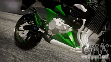 Kawasaki Z800 Monster Energy for GTA San Andreas right view
