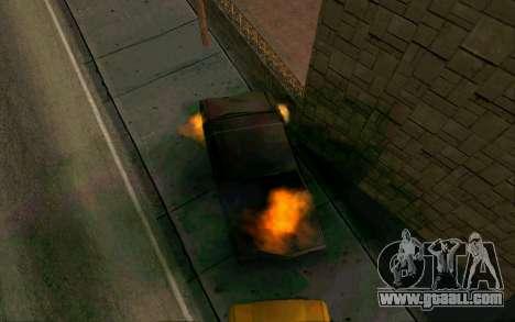 Burning car mod from GTA 4 for GTA San Andreas second screenshot