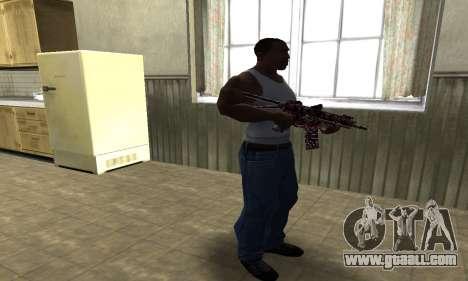 M4 Red Camo for GTA San Andreas third screenshot