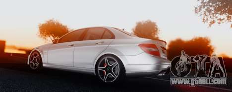 Mercedes-Benz C63 AMG 2013 for GTA San Andreas side view