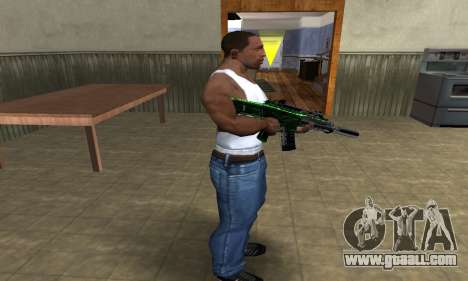 Full Green M4 for GTA San Andreas third screenshot