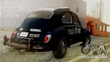 Volkswagen Beetle 1963 Policia Federal for GTA San Andreas left view