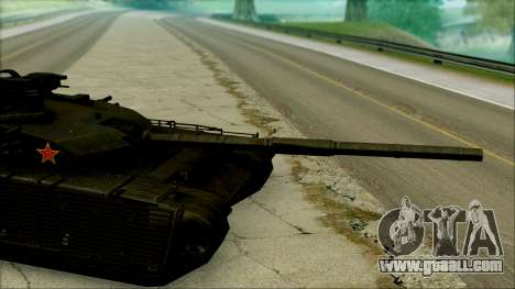Type 99 BF4 for GTA San Andreas back left view