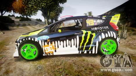 Ford Fiesta Gymkhana 3 Ken Block for GTA 4 left view