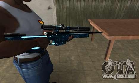 Sniper Blue Snow for GTA San Andreas