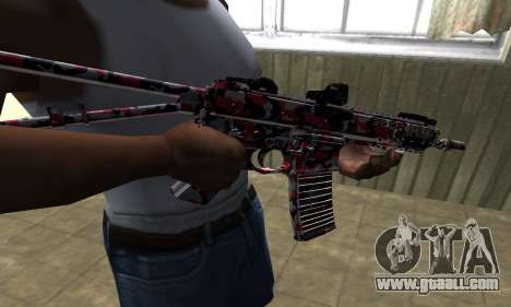M4 Red Camo for GTA San Andreas