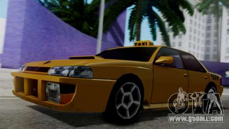 Sultan Taxi for GTA San Andreas back left view