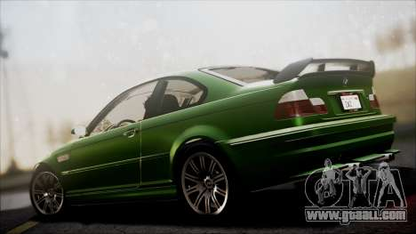 BMW M3 GTR Street Edition for GTA San Andreas side view