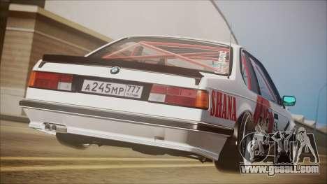 BMW E24 Shakugan No Shana Itasha for GTA San Andreas left view