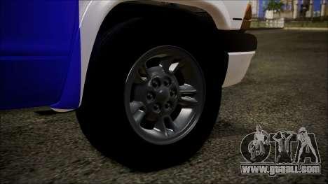 Dodge Dakota Iraqi Police for GTA San Andreas back left view