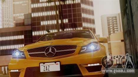 Mercedes-Benz C63 AMG 2015 Edition One for GTA San Andreas interior