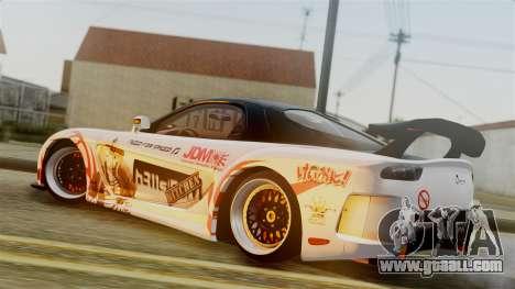 Mazda RX-7 Veilside Mugi Itasha for GTA San Andreas back view