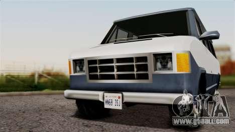 El Passa Van for GTA San Andreas back left view