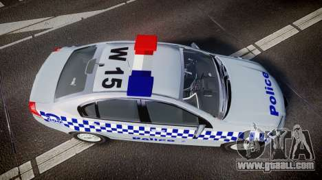 Holden Commodore Omega Victoria Police [ELS] for GTA 4 right view
