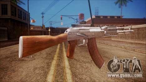 AK-47 v4 from Battlefield Hardline for GTA San Andreas second screenshot