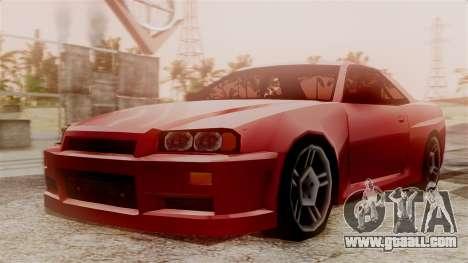 Nissan Skyline R34 SA Style for GTA San Andreas