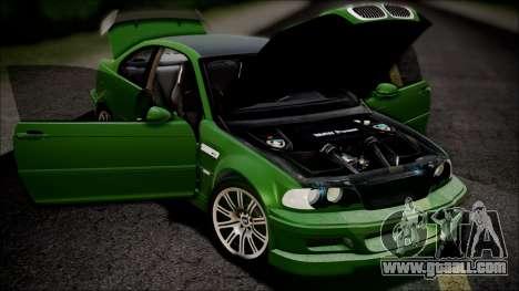BMW M3 GTR Street Edition for GTA San Andreas engine