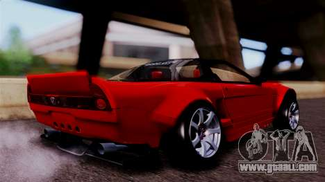 Honda NSX for GTA San Andreas back left view