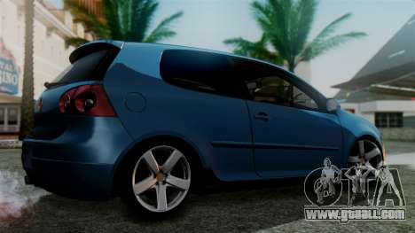 Volkswagen Golf Mk5 for GTA San Andreas left view