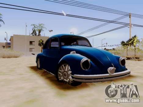 Volkswagen Beetle 1980 Stanced v1 for GTA San Andreas right view