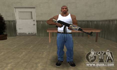 Cool Black AK-47 for GTA San Andreas third screenshot