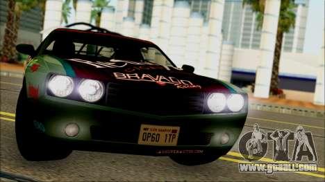 GTA 5 Bravado Gauntlet Redwood HQLM for GTA San Andreas back left view