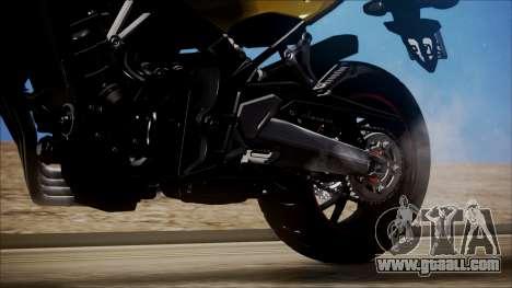 Honda CB650F Amarela for GTA San Andreas back view