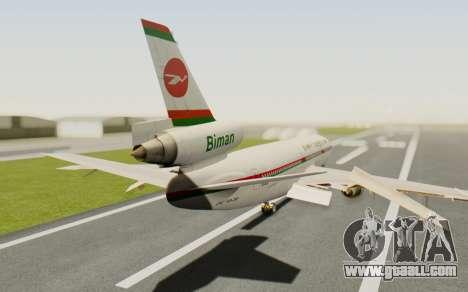 DC-10-30 Biman Bangladesh Airlines for GTA San Andreas left view