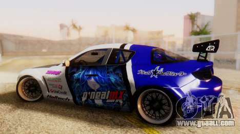 Mazda RX-8 Tuned Black Rock Shooter Itasha for GTA San Andreas left view