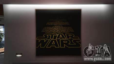 GTA 5 Star Wars Posters for Franklins House 0.5 seventh screenshot
