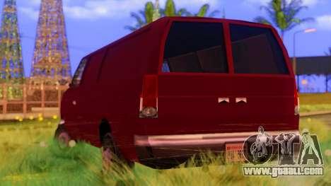 Ambush Van for GTA San Andreas back left view