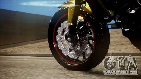 Honda CB650F Amarela for GTA San Andreas right view