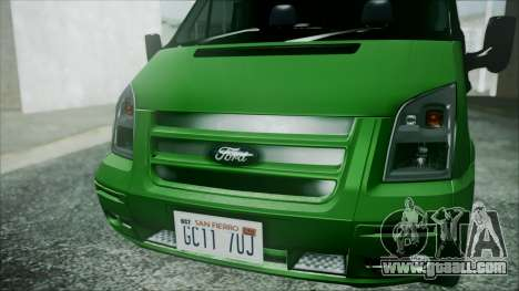 Ford Transit SSV 2011 for GTA San Andreas back view