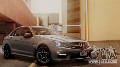 Mercedes-Benz C63 AMG 2015 Edition One for GTA San Andreas bottom view