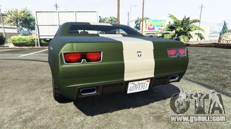 GTA 5 Bravado Gauntlet Dodge Challenger rear left side view