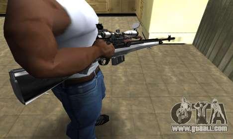 Silver Sniper Rifle for GTA San Andreas