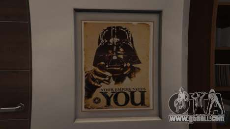 GTA 5 Star Wars Posters for Franklins House 0.5 second screenshot